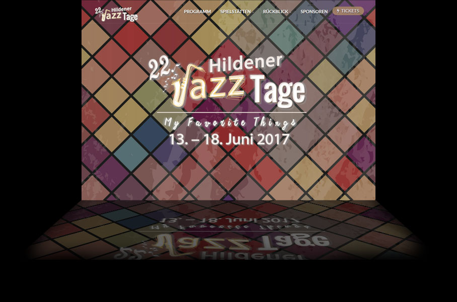 Website Hildener Jazztage 3 2017