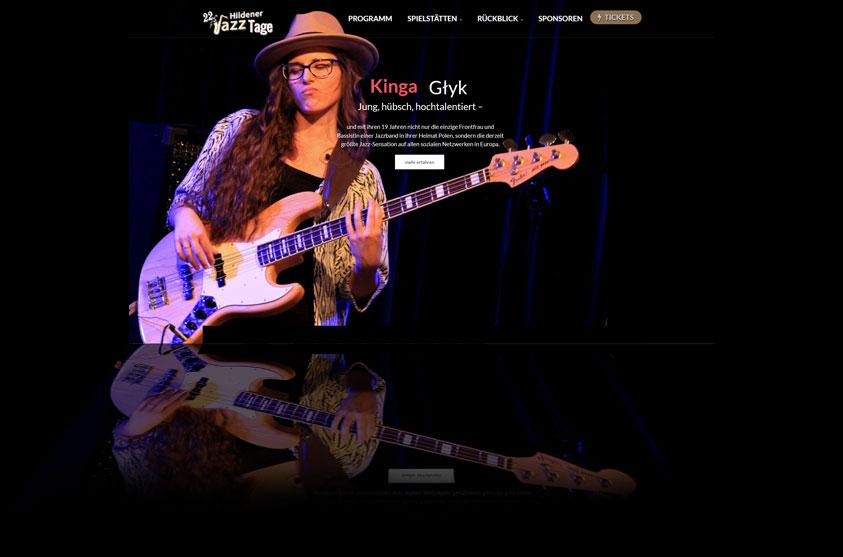 Website Hildener Jazztage 2017